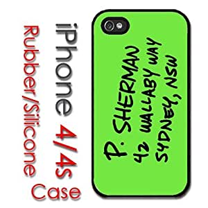 iPhone 4 4S Rubber Silicone Case - P Sherman Address in Sydney, NSW 42 Wallaby Way