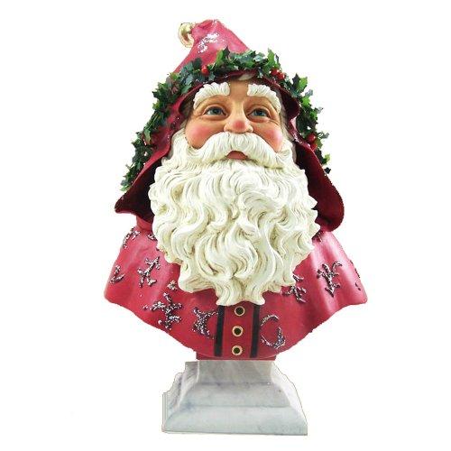 Kurt Adler Victorian Santa Bust Figurine, 12-Inch, Burgundy by Kurt Adler