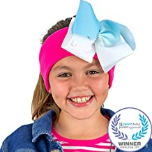 JoJo Siwa Kids Headphones by CozyPhones - Volume Limited with Ultra-Thin Speakers & Stretch Headband – Detachable Bow & Clip