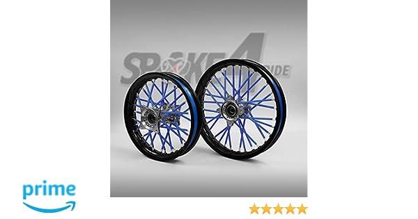 Cubre radios Azul Protector de Radios Rayos Spoke Skins Motocross llanta enduro rueda moto: Amazon.es: Coche y moto
