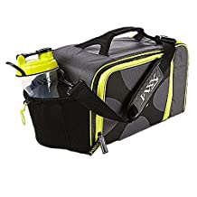 Jaxx FitPak XL Meal Prep Bag w Portion Control Container Set- Yellow