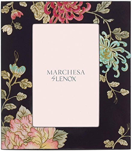 Marchesa Painted Camellia Lacquer Frame, 4 x 6 by Marchesa [並行輸入品]   B01AKZ9RX0