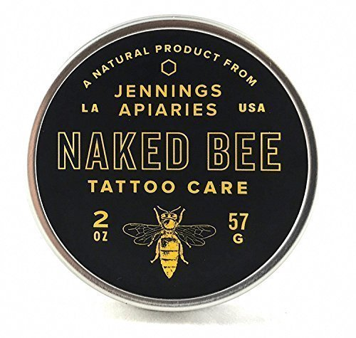 Naked Bee Tattoo Care by Jennings Apiaries – Great as a Tattoo Glide  Aftercare – Help Your New Ink Heal Faster and Look Better Naturally – No Petrol…