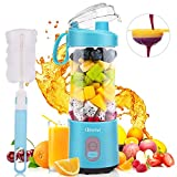 Portable Blender, Olivivi 2020 Mini Cordless Personal Blender for Shakes and Smoothies, Usb Rechargeable Small Protein Travel Blenders with Six Blades in 3D, 4000mah Batteries and 12.86oz Fruit Mixing Juicer Cup at Hom, Picnic, Office and School
