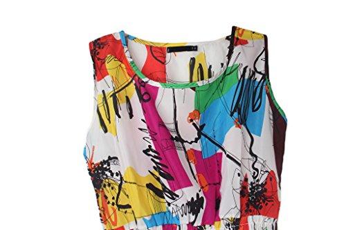 Casual Dantiya Print Chiffon Dresses KJGF24 Flora pieces One Spring Women's H00P6q