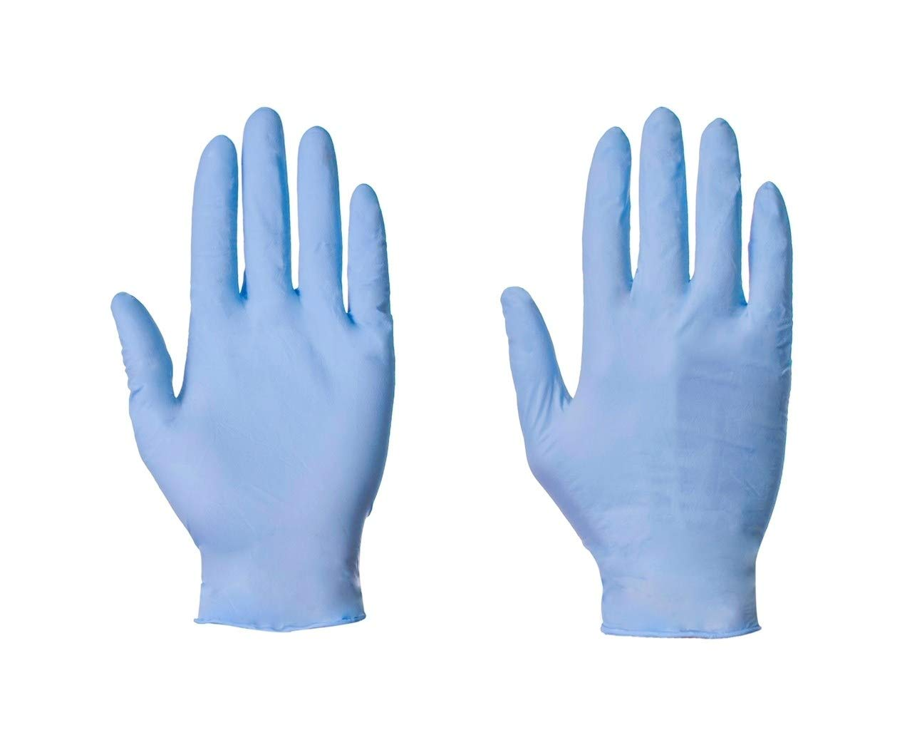 100 (1 Box) x Blue Nitrile (Latex & Powder Free) Gloves Disposable Food Medical etc. (Small)
