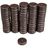 Creative Hobbies® Ceramic Industrial Magnets - Round Disc - Ferrite Magnets Bulk for Crafts, Science&hobbies - Grade 5 - 100 pcs / box!