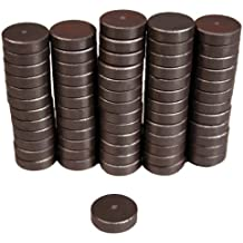 """Creative Hobbies Ceramic Industrial Magnets -11/16 Inch (.709) Round Disc - 3/16"""" THICK (.198"""" or 5mm) - Ferrite Magnets Bulk for Crafts, Science&hobbies - Grade 5-100 pcs/box!"""