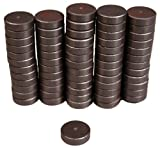 Creative Hobbies Ceramic Industrial Magnets -11/16 Inch (.709) Round Disc - 3/16'' THICK (.198'' or 5mm) - Ferrite Magnets Bulk for Crafts, Science&hobbies - Grade 5-100 pcs/box!