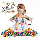 500 Pcs Pop Beads Set Arty Snap Beads with Storage Box, DIY Jewelry Making Kit for Headwear Necklace Earrings Bracelets Rings Art Crafts,Birthday&Children's Day Gifts Toys for Kids Toddlers Girls
