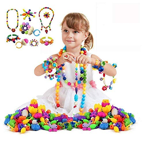 500 Pcs Pop Beads Set Arty Snap Beads with Storage Box, DIY Jewelry Making Kit for Headwear Necklace Earrings Bracelets Rings Art Crafts,Birthday&Children's Day Gifts Toys for Kids Toddlers Girls by Alphawang