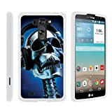TurtleArmor | LG G Vista Case | LG G Pro 2 Lite Case [Slim Duo] Slim Fitted Compact Hard Protector Snap On Matte Case Music Design on White - Skeleton Headphone