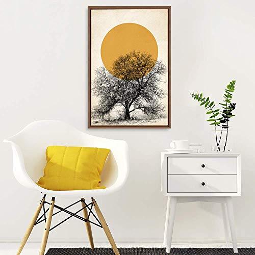 Framed Home Artwork Nordic Style Mo for Living Room Bedroom