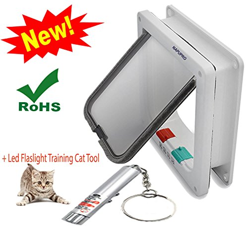 Pdf Replacement Manual - NAPUPRO Large Cat door and Small Dog Door , cat flap, for windows, 4 Ways Locking (Large size 9.2 x 2.2 x 10 inch),Telescopic Frame, replacement flap, pet safe, easy install, exterior door (L, white)