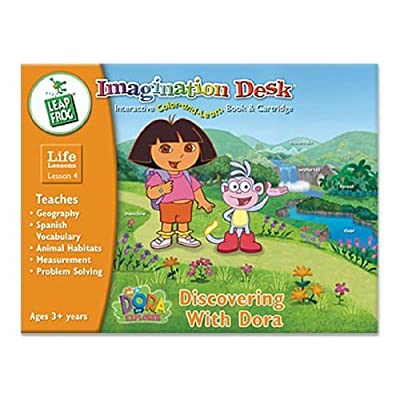 LeapFrog Toys Imagination Desk: Discovering with Dora Interactive Color-and-Learn Book and Cartridge: Toys & Games