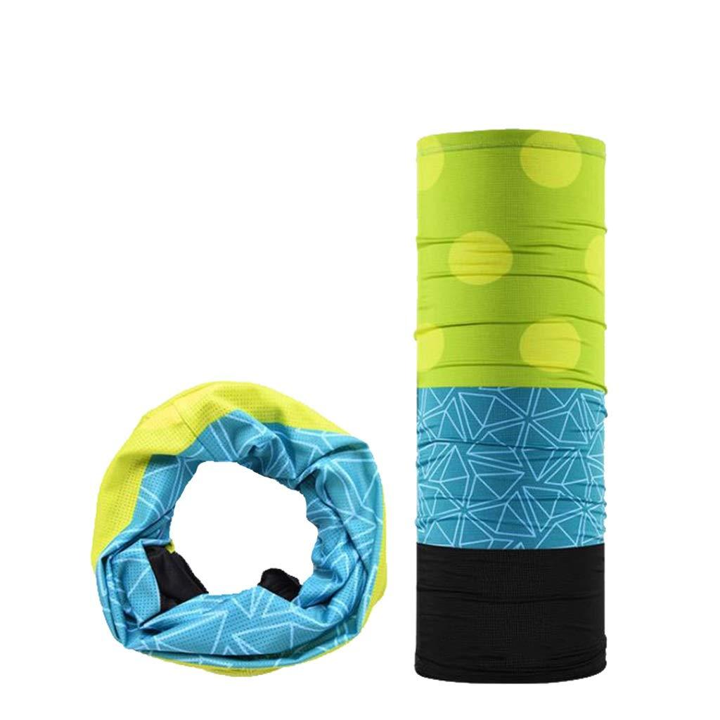 Lijiaqi Half Mask, Mesh Sunscreen Half Mask, Summer Outdoor Riding Triangle Towel Breathable Riding Half Mask (Color : Blue Black)