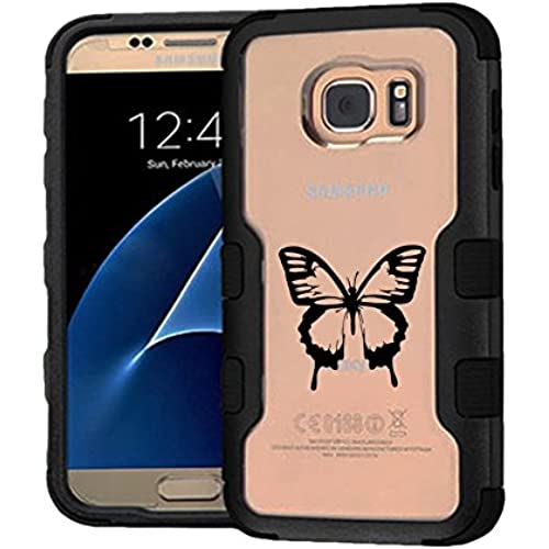 Galaxy S7 Case Butterfly, Extra Shock-Absorb Clear back panel + Engineered TPU bumper 3 layer protection for Samsung Sales