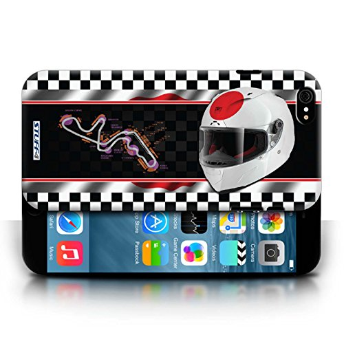 Etui / Coque pour Apple iPhone 6/6S / Japon/Suzuka conception / Collection de F1 Piste Drapeau