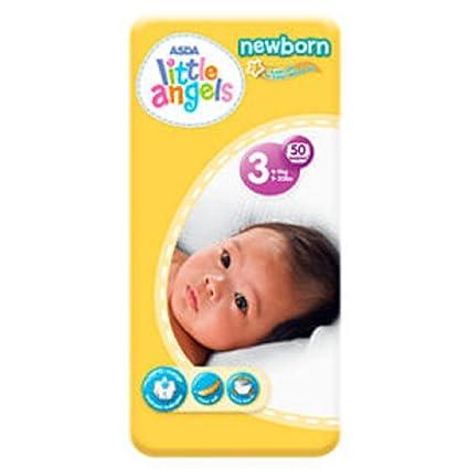 ASDA Little Angels - Pañales para recién nacido, tamaño 3: Amazon.es ...
