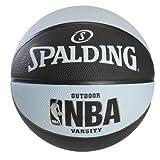 Spalding NBA Varsity Outdoor Rubber Basketball - Black/Blue - Official Size 7 (29.5