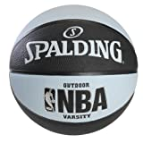 Spalding NBA Varsity Outdoor Rubber Basketball - Black/Blue - Official Size 7 (29.5')