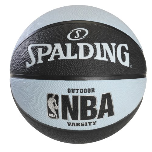 Spalding NBA Varsity Outdoor Rubber Basketball - Black/Blue - Official Size 7 (Basketball Hoops Cheap)
