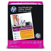 "HP Multipurpose Paper, 8 1/2"" x 11"", 20 lb., 96 Bright, 500 sheets/ream, (112000)"
