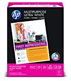 "HP Multipurpose Ultra White, 20lb, 8 1/2"" x 11"", 96 Bright, 500 Sheets/1 Ream, (112000)"