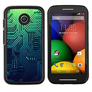 """Be-Star Único Patrón Plástico Duro Fundas Cover Cubre Hard Case Cover Para Motorola Moto E / XT1021 / XT1022 ( Patrón de PCB Electrónica Circuito Diseño"""" )"""