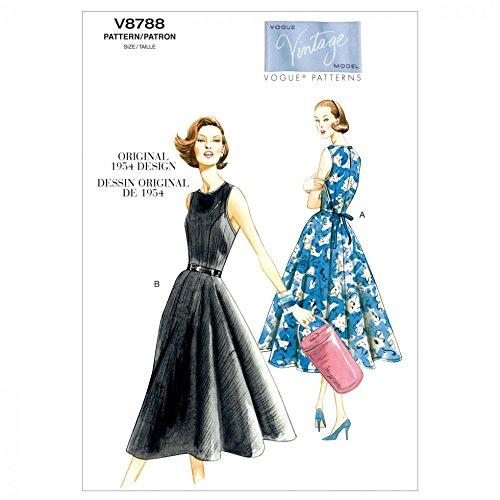 Vogue Ladies Easy Sewing Pattern 8788 Vintage Style Wrap ()