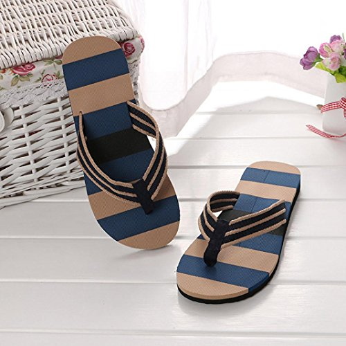 hunpta Slipper, Men Summer Shoes Mixed Colors Sandals Male Slipper Indoor Or Outdoor Flip Flops Blue