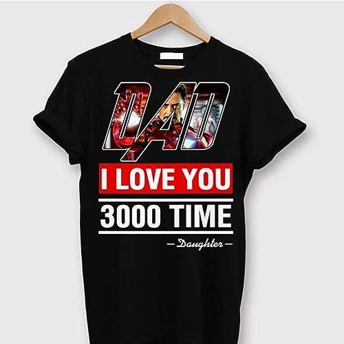 5e378028 DAD I love you 3000 T-Shirt aven gers Gift Funny Women Girl Shirt, Three  Thousand Tee, Stark Fan T-shirt, Tony Iron Shirt Endgame 2019 for Father's  day ...