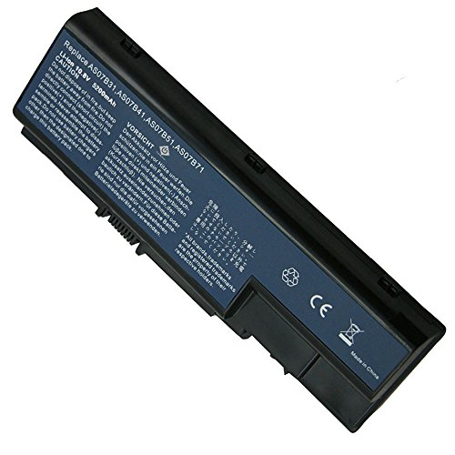Acer Main Battery Pack - Super-Capacity Li-ion Battery For Acer Aspire 5520 5720 5920 6920 6920G 7520 7720 7720G 7720Z series replace for AS07B31 AS07B41 AS07B42 AS07B72 CONIS72 series Ac Laptop Notebook Main Battery [ 4400mAh 6 Cells]
