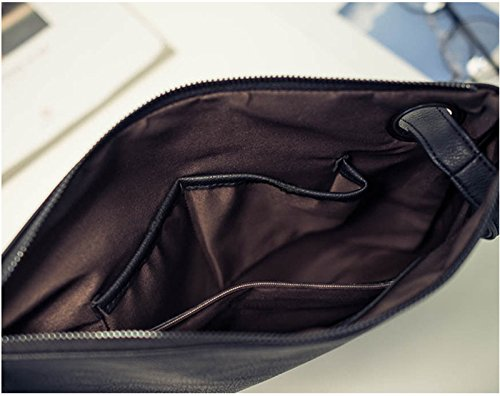 Large Handbag Aladin Evening Black Womens Oversized Purse leather Clutch Wristlet Bag qO7xz4wXO