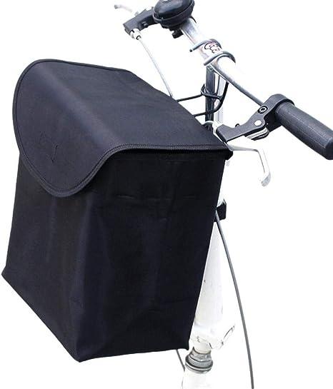 Cesta Delantera De Bicicleta, Bolsa De Lona Impermeable Para Ciclismo Bolso Delantero De Gran Capacidad Fácil De Instalar Cesta Delantera Plegable Desmontable Para Bicicleta De Montaña Con Cubierta: Amazon.es: Deportes y aire