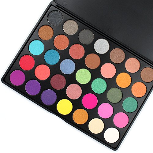 Miskos 35 Colors Professional Makeup Eyeshadow Pallet Shimmer Matte Eye Shadow Set Cosmetic Product #35 Series (35A) ()