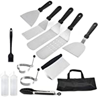 BSTOB Outdoor Barbecue Tool Kit, Stainless Steel Spatula Set Professional Barbecue Grill and Griddle Spatulas Tool Kit