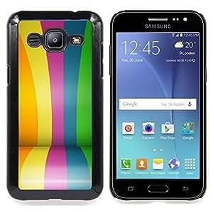 "S-type Recubiertos Líneas coloridas rayas Feria"" - Arte & diseño plástico duro Fundas Cover Cubre Hard Case Cover For Samsung Galaxy J2 / J200"