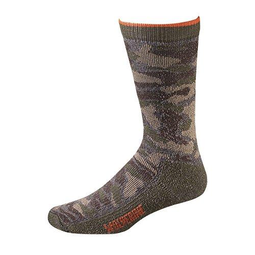Wolverine Men's Socks Camo Full Cushion Wool Crew Camo/Grey 2pairs (Wool Camo Sock)