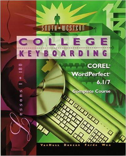 Libros en línea descargables College Keyboarding Corel WordPerfect 6.1/7 Word Processing, Complete Course (Literatura española) PDF