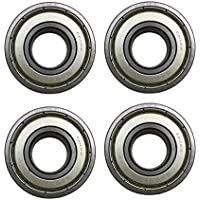 Front and Rear Wheel Bearing Set compatible with Coleman...