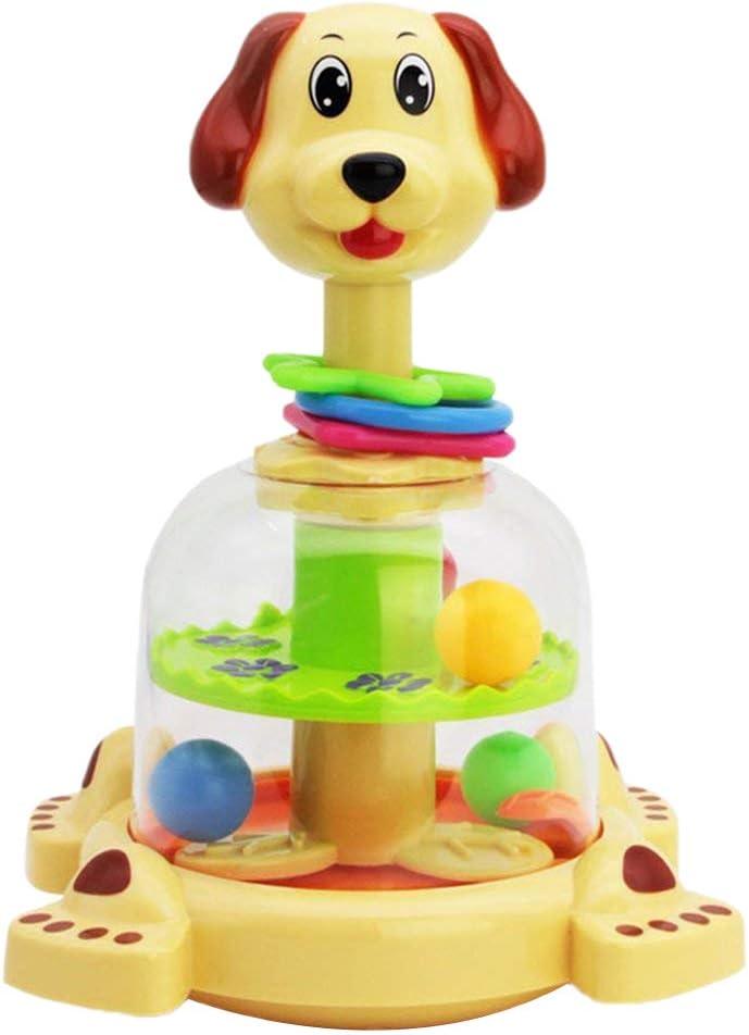 Daxoon Dog Spinning Top Spinning empujando Juguete de Pelota de ...