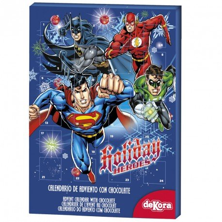 Dc Comics Justice League Milk Chocolate Advent Calendar Exclusive with 24 chocolates (Order Before 25 Nov. For Express Delivery)