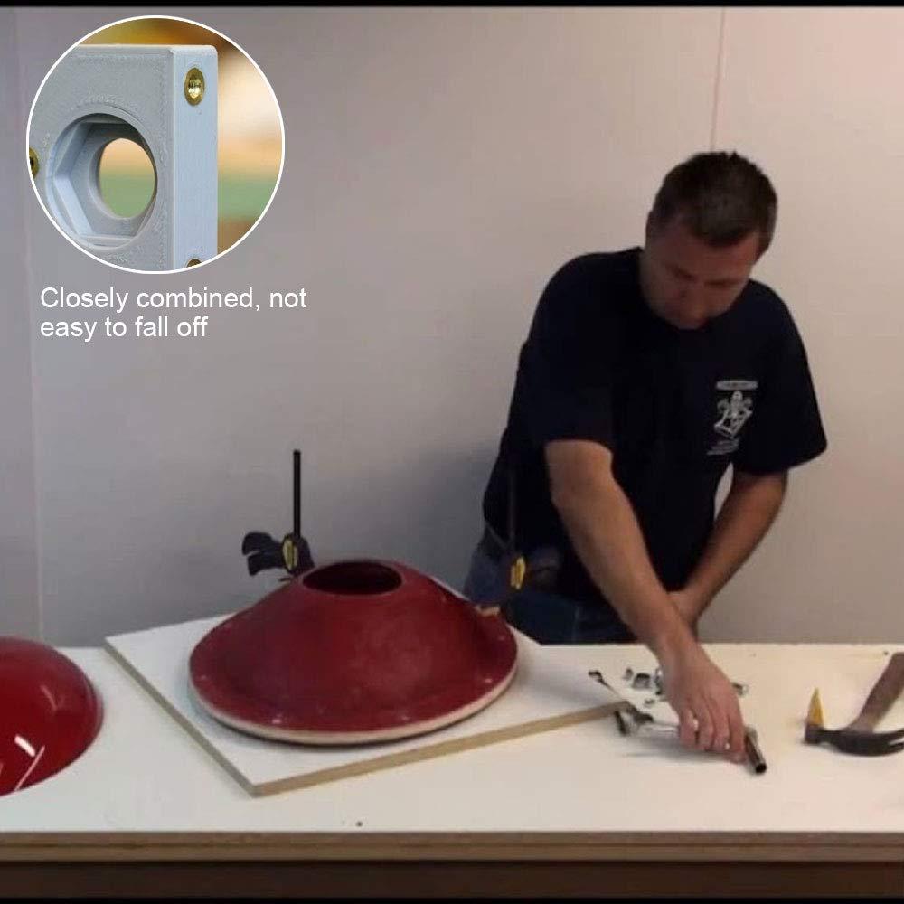 Nahuaa 330pcs Filetage Femelle Noix M2 M3 M4 M5 /Écrou Molet/é Laiton Insert pour Insertion Rond Injection Moulage Nuts Assortiment Kit