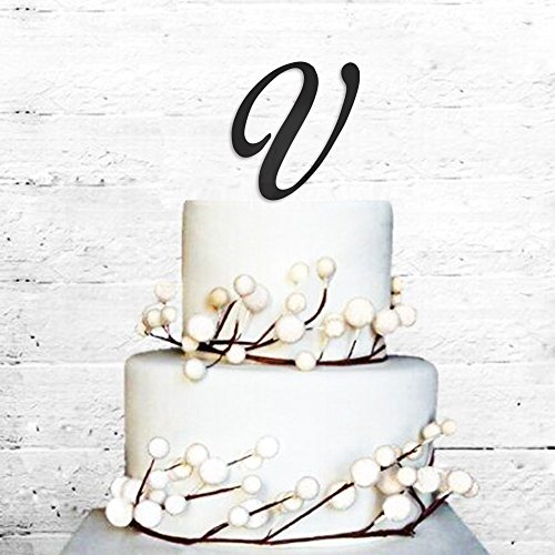 cicidi cake toppers initials letter v birthday engagement we
