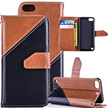 Abtory iPod Touch 5 Case Covers,Leather Case for iPod Touch 5,[Credit Card Slots][Stand][Flip PU] Wallet Case Cover for iPod Touch 5