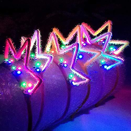 Mini Mexx Adults LED Flashing Glowing Bunny Ears Headband Light Up Hairband Birthday Glow Party Halloween Christmas Headwear