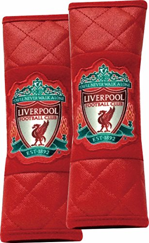 Official Liverpool FC Seat Belt Covers (pair), exclusive edition