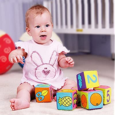 Ywoow New Baby Soft Wool Cloth Building Block Educational Toys 6 Sets of Rattles, 6 Sets of Cloth Bag Sandbags US Warehouse Sent: Home & Kitchen