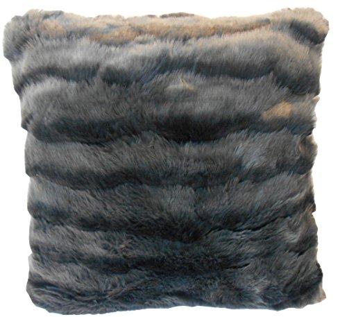 Hudson Park Faux Fur Pelted Mink 20 x20 Decorative Pillow